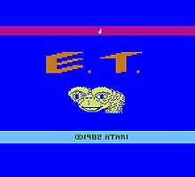 E.T - Atari 2600 by martyrofevil