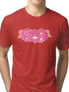 Pokeball Flowers Tri-blend T-Shirt