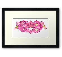 Pokeball Flowers Framed Print