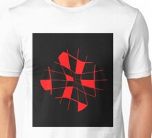 Abstract red flower Unisex T-Shirt