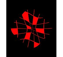 Abstract red flower Photographic Print