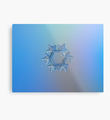 Snowflake photo - Sunflower Metal Print