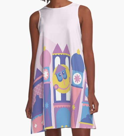 It's a small world after all A-Line Dress
