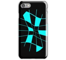 Abstract blue flower iPhone Case/Skin