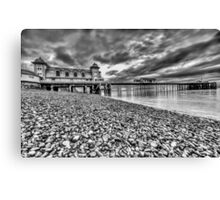 Penarth Pier Monochrome Canvas Print