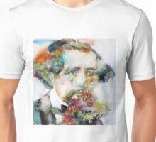 CHARLES DICKENS - watercolor portrait.3 Unisex T-Shirt