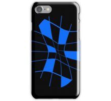 Blue abstract flower iPhone Case/Skin