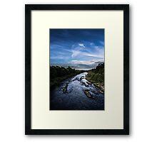 Blue Sky Blue Water Framed Print