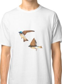Flying Tree Swallows Classic T-Shirt