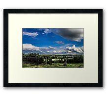Cloudy Landscape Framed Print