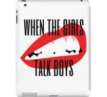 girls talk boys iPad Case/Skin