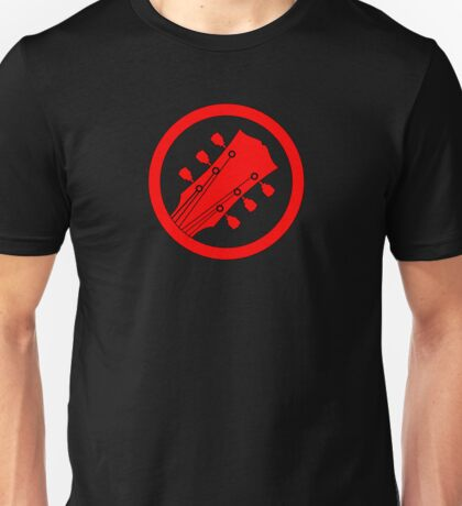 Guitar player red Unisex T-Shirt