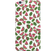 Whole Watermelons Wedged and Sliced Pattern on White iPhone Case/Skin