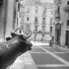 Infrared Bull Tarragona Spain by Jane Linders