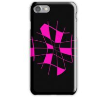 Pink abstract flower iPhone Case/Skin