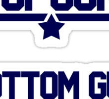 top gun bottom gun Sticker