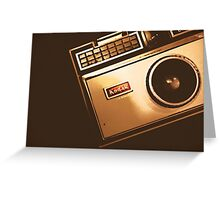 Instamatic Camera Zoom Greeting Card