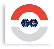 Pokemon Go Design Canvas Print