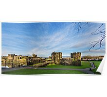 Caerphilly Castle Panorama Poster