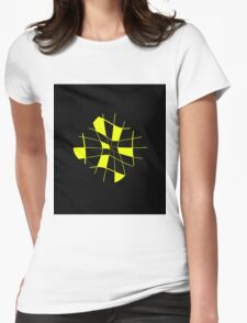 Yellow abstract flower Womens Fitted T-Shirt