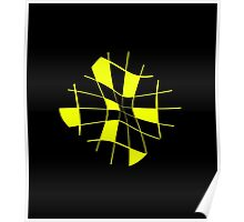 Yellow abstract flower Poster