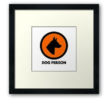 Dog Person Cool Animal Dogs Badass Framed Print