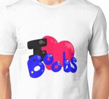 I Heart Boobs. Unisex T-Shirt