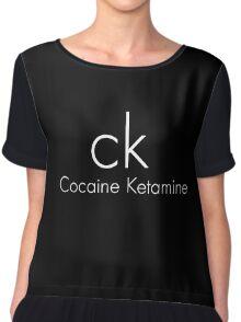 Cocaine Ketamine CK Chiffon Top