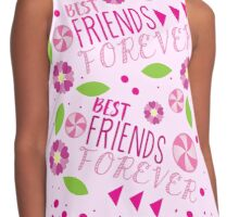 BFF best friends forever pattern Contrast Tank