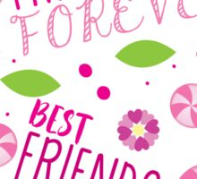 BFF best friends forever pattern Sticker