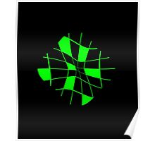 Green abstract flower Poster