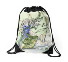 Faeries in the garden Drawstring Bag
