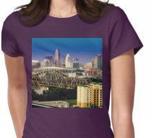 Cincinnati in Blue Womens Fitted T-Shirt