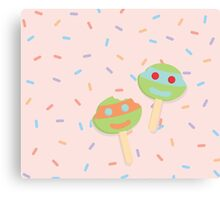ice cream and sprinkles Canvas Print