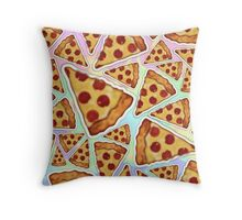 Pizza Rainbow Throw Pillow