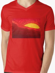 Wildfire Eye original painting Mens V-Neck T-Shirt