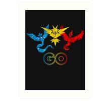 Pokemon Go - United Teams Art Print