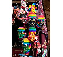 Ollantaytambo Masks Photographic Print