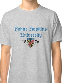 Johns Hopkins University-Gothic Text Classic T-Shirt
