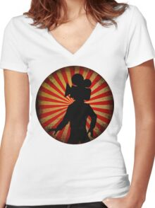 Unisex Film Camera head, film geek stuff Women's Fitted V-Neck T-Shirt