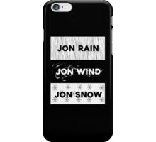 Rain, wind, snow... iPhone Case/Skin