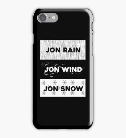 Rain, wind, snow... iPhone Case/Skin