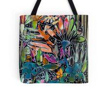 Psychedelic Potpourri - Flowers - Kaboom Art Tote Bag
