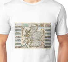 Vintage Map of Scotland (1747) Unisex T-Shirt