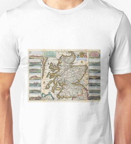 Vintage Map of Scotland (1747) Unisex T-Shirt