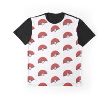 Pokeball Pattern Graphic T-Shirt