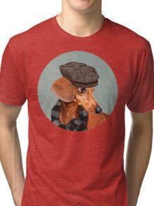 Elegant Mr. Dachshund Tri-blend T-Shirt