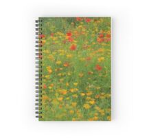 English Summer monet Spiral Notebook