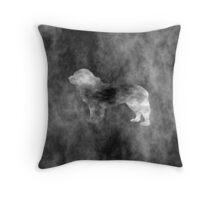 Dark Newfoundland Art Throw Pillow
