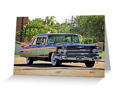 '59 Cadillac Fleetwood Limo Greeting Card